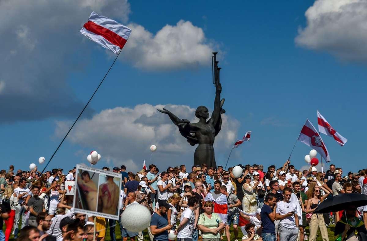 Die EU unterstützt die Menschen in Belarus –  hauptsächlich mit starken Worten. Foto: AFP/SERGEI GAPON