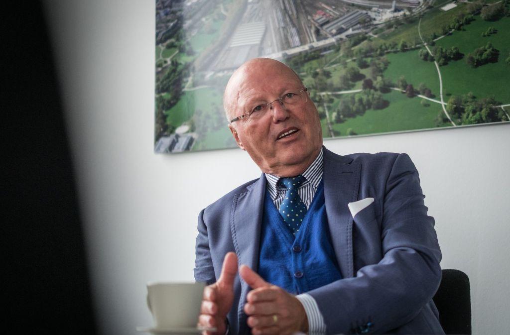 Georg Brunnhuber ist oberster Werber für das Bahnprojekt Stuttgart-Ulm. Foto: Lg/Kovalenko