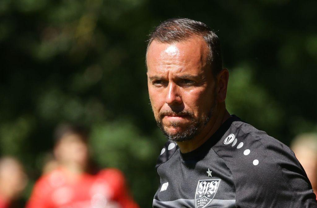 VfB-II-Trainer Paco Vaz. Foto: Pressefoto Baumann/Hansjürgen Britsch
