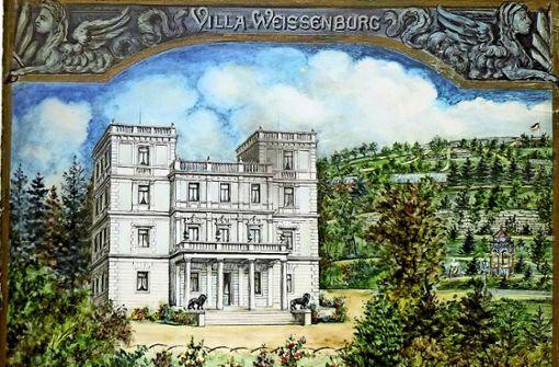 So sah die Villa des Seifenfabrikanten Ernst von Sieglin aus