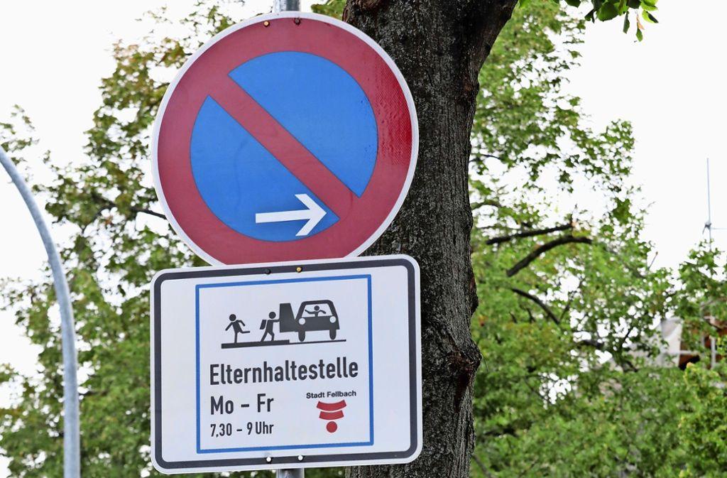 Das gab's noch nicht in Fellbach: Eine für Eltern reservierte Parkbucht. Foto: Patricia Sigerist