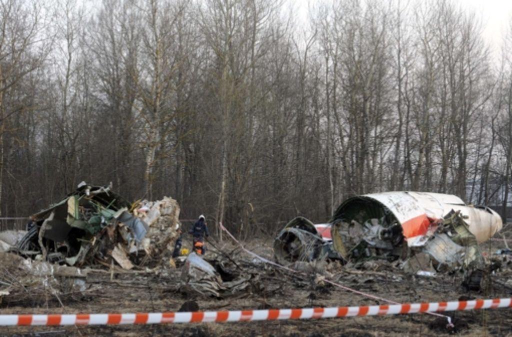 Am 10. April 2010 starben im russischen Smolensk der polnische Präsident Lech Kaczynski und mehr als 90 Vertreter der politischen und militärischen Elite Polens. Foto: AFP