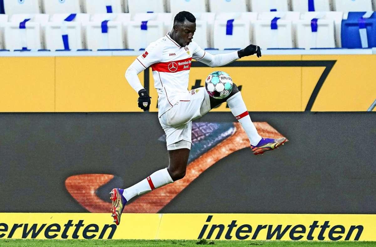 Er läuft und läuft ... und springt manchmal auch: Silas Wamangituka Foto: imago/Oliver Zimmermann