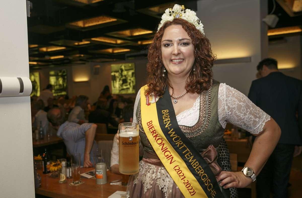 Irina Hansmann ist Baden-Württembergs neue Bierkönigin. Foto: Lichtgut/Julian Rettig