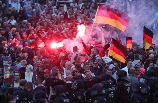 Chemnitz fällt zeitweise unter die Radikalen
