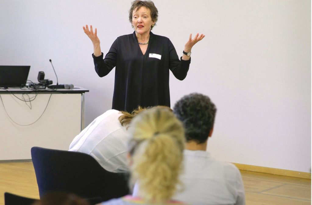 Inge Bölz berät Gründerinnen: Sie sagt, wie man sich richtig hinstellt. Foto: