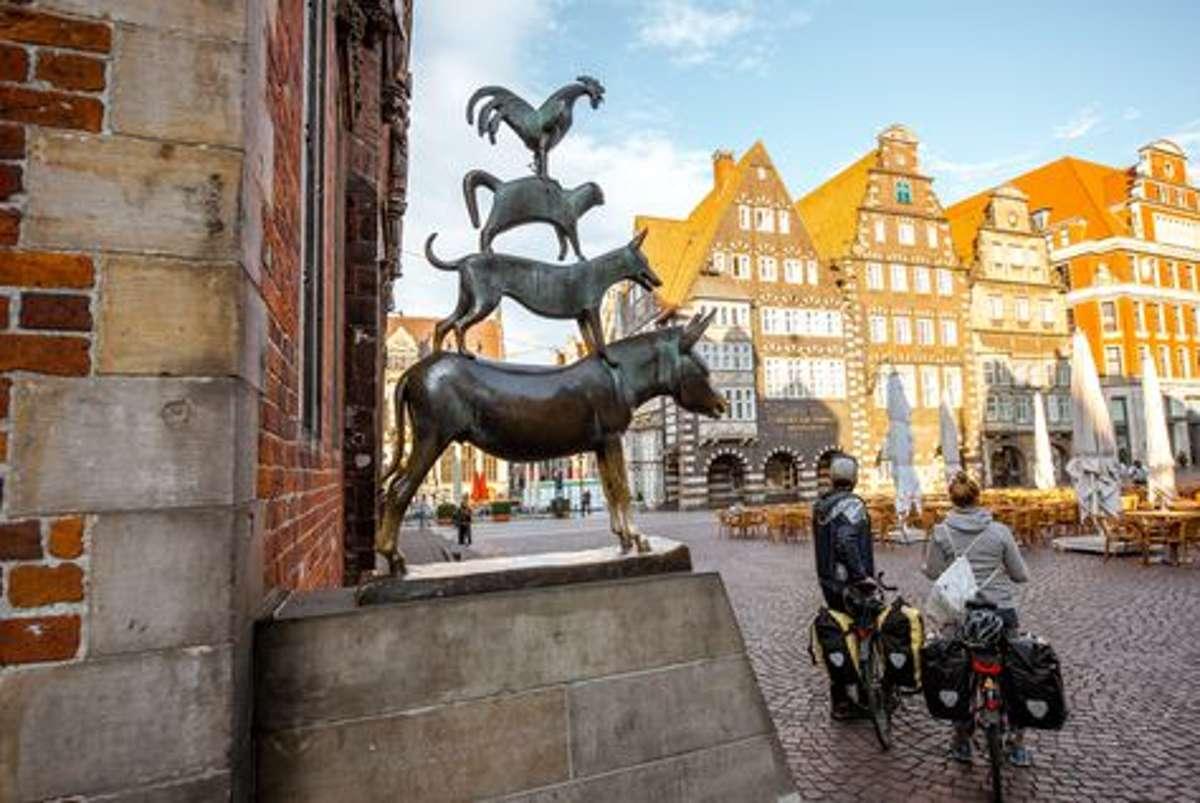 Bremen war der Abräumer beim Fahrradklima-Test des ADFC im Jahr 2018. bei den Städten mit mehr als 500.000 Einwohnern ging sie als Sieger in Sachen Fahrradfreundlichkeit hervor.  Foto: Shutterstock/RossHelen