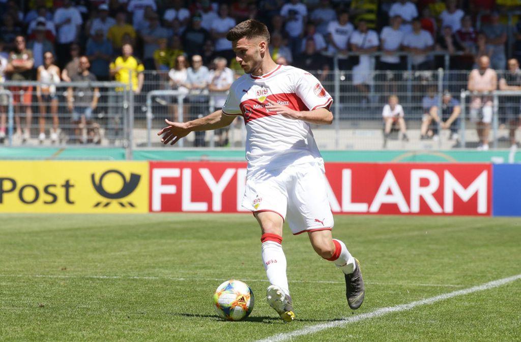 Leon Dajaku wird den VfB Stuttgart verlassen. Foto: Pressefoto Baumann
