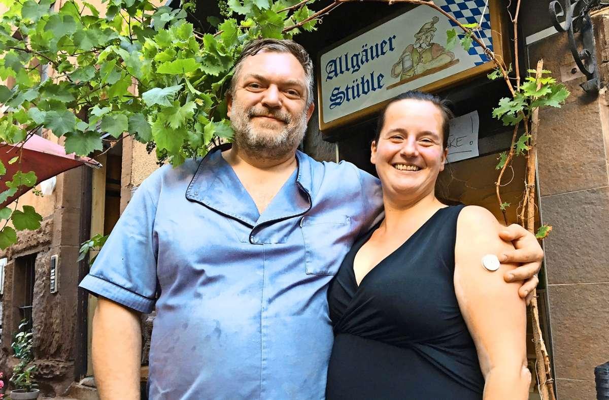 Ramona und Kristijan Kavas nehmen Abschied vom Allgäuer Stüble Foto: /Weier