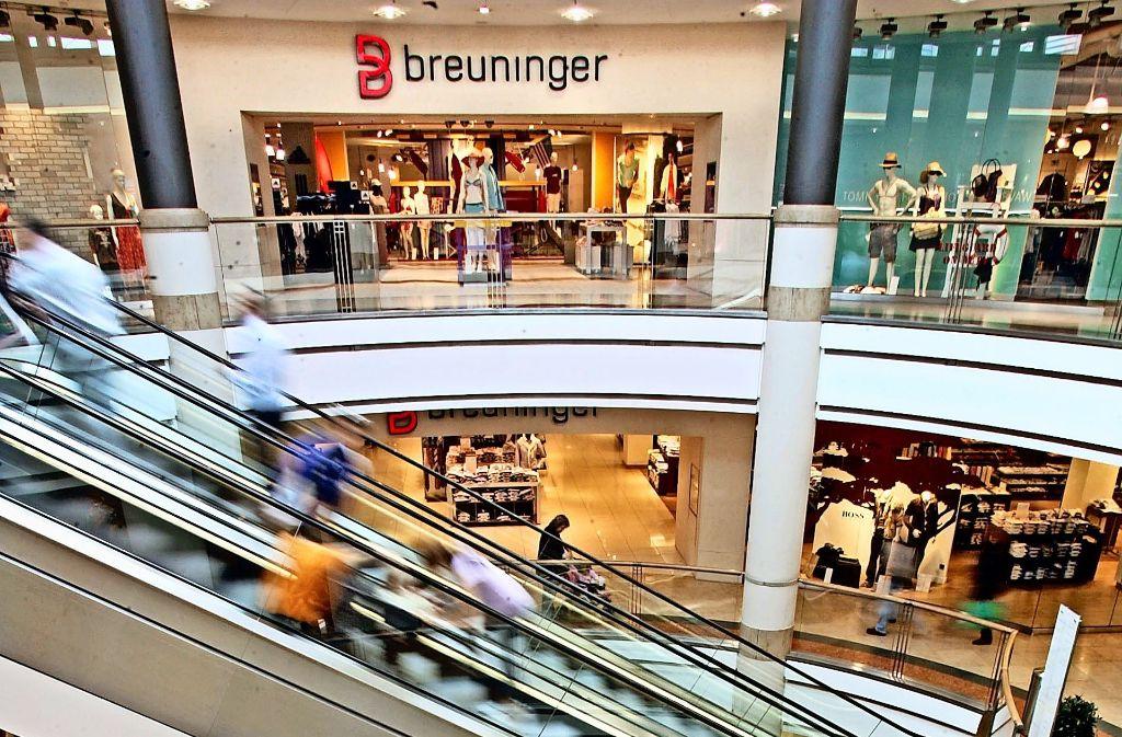 einkaufszentrum in ludwigsburg breuninger darf wachsen landkreis ludwigsburg stuttgarter. Black Bedroom Furniture Sets. Home Design Ideas