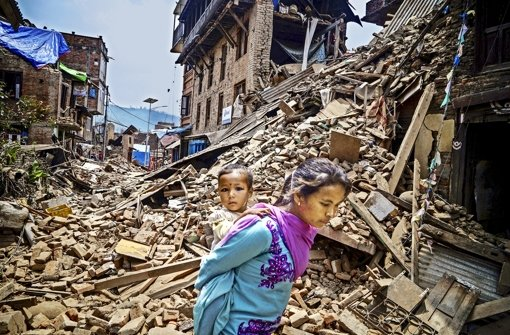 Das Beben in Nepal  war 2015 die schlimmste Naturkatastrophe. Foto: dpa