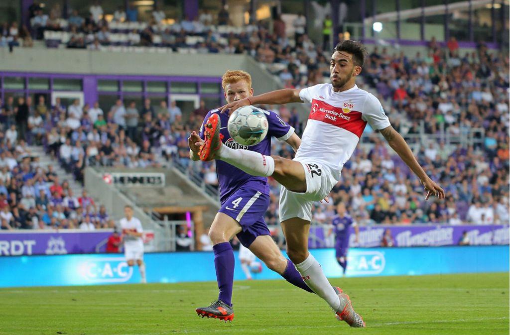 Am Freitag spielte der VfB mit Nicolas Gonzalez in Aue 0:0. Foto: Baumann