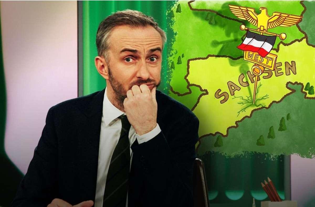 Jan Böhmermann weiß, dass Satire da nicht hilft: In Sachsen gärt was. Foto: ZDF