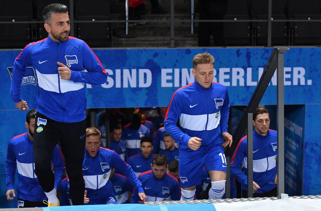 Vedad Ibisevic (links) und Santiago Ascacibar waren auch beim VfB Stuttgart aktiv. Foto: imago images/Bernd König