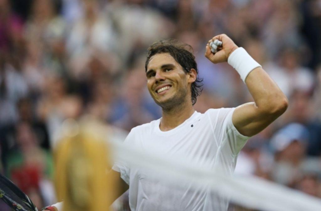 Rafael Nadal ist ins Achtelfinale beim Tennisturnier in Wimbledon eingezogen. Foto: dpa