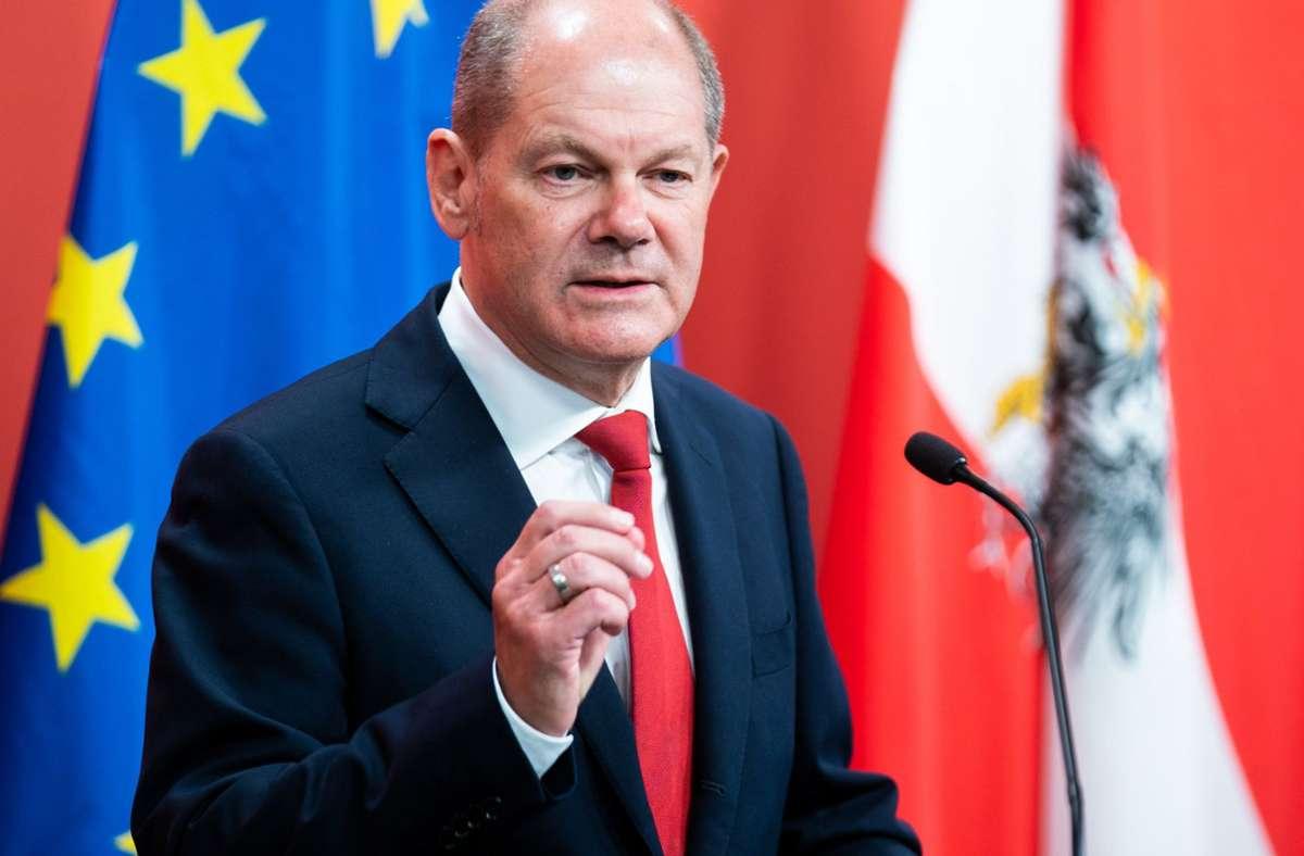 Olaf Scholz geht für die SPD als Kanzlerkandidat ins Rennen. Foto: dpa/Georg Hochmuth