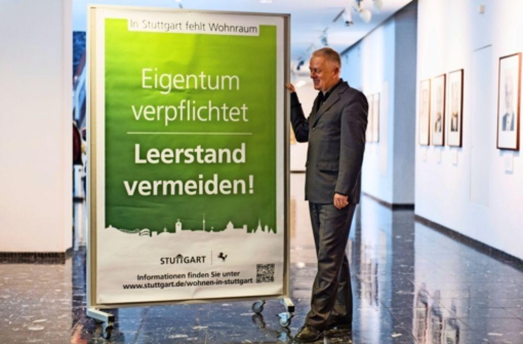 Fritz Kuhn wollte zuerst mit einer Kampagne auf Basis von Freiwilligkeit  gegen Leerstand vorgehen, nun folgt das Zweckentfremdungsverbot. Foto: Martin Lorenz