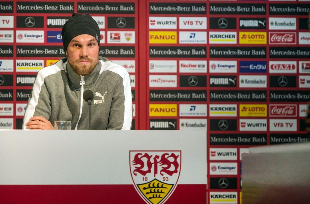 Das letzte Bild von Kevin Großkreutz beim VfB Stuttgart. Foto: dpa