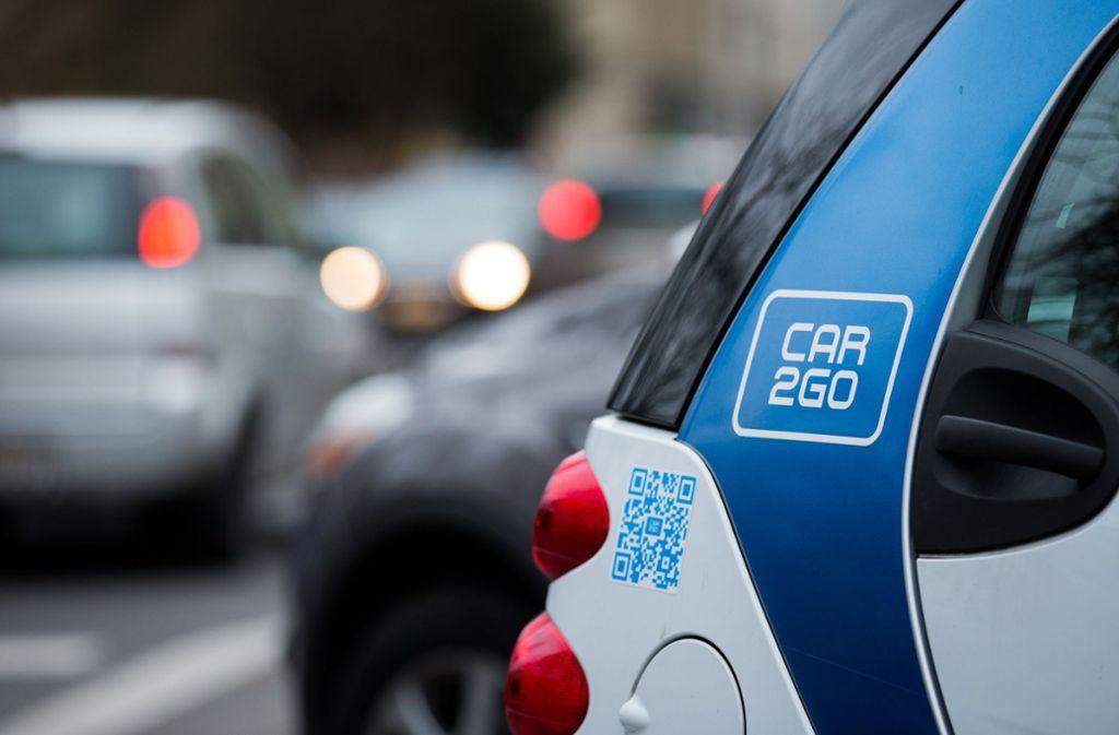 Car2go ist die Carsharing-Marke von Daimler. Sie geht künftig mit Drive Now von BMW im Anbieter Share Now auf. Foto: dpa