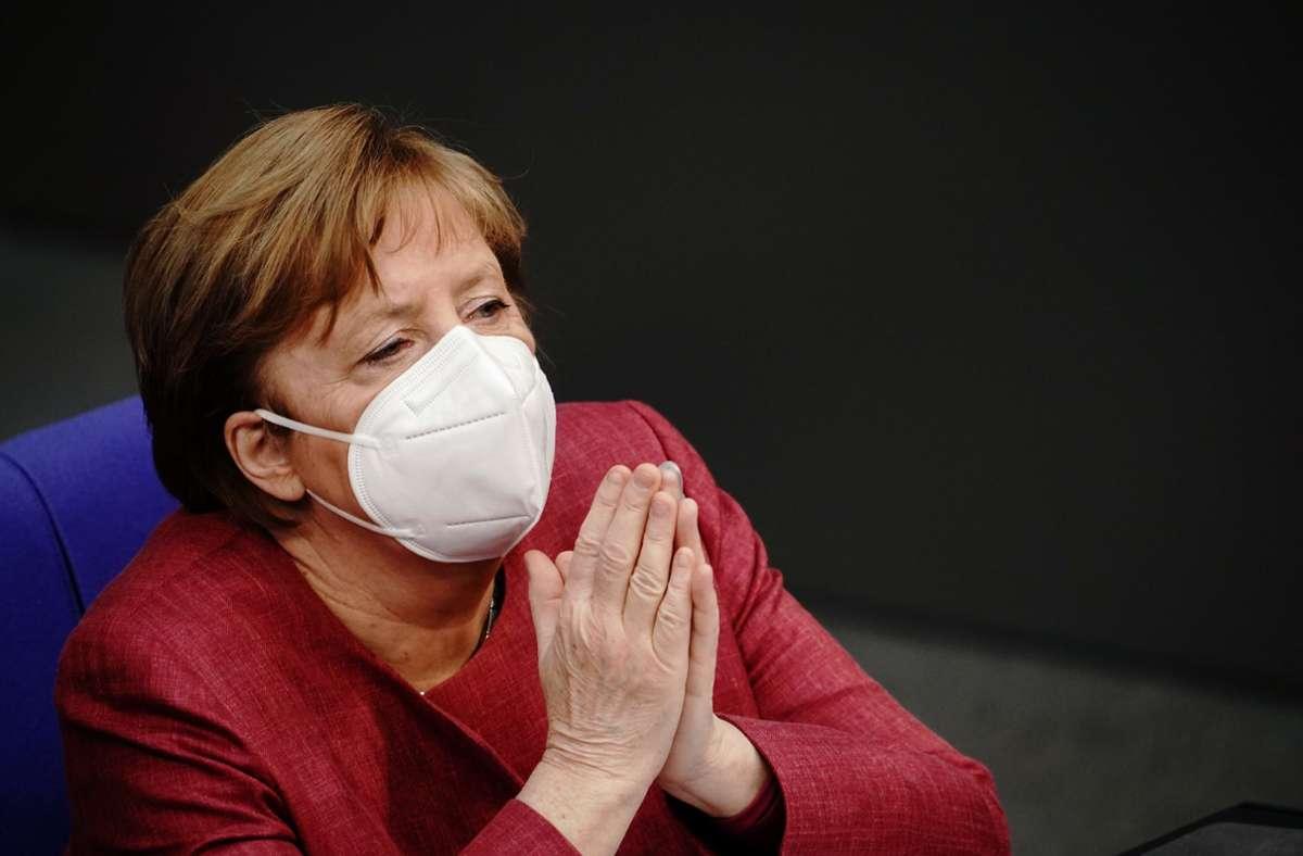 Die Bundeskanzlerin Angela Merkel ist geimpft worden. Foto: dpa/Kay Nietfeld
