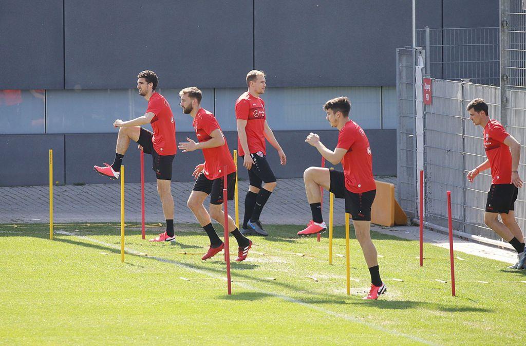 Beim VfB Stuttgart darf unter besonderen Bedingungen wieder trainiert werden. Foto: Pressefoto Baumann/Hansjürgen Britsch