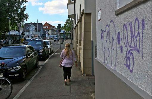 Etliche Häuser mit Graffiti beschmiert