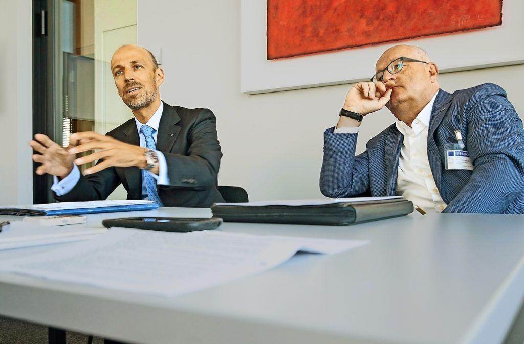 Peter Leibinger (links) und Ulrich Dietz sehen beim Bewusstsein für den digitalen Umbruch noch Defizite. Foto: factum/Granville
