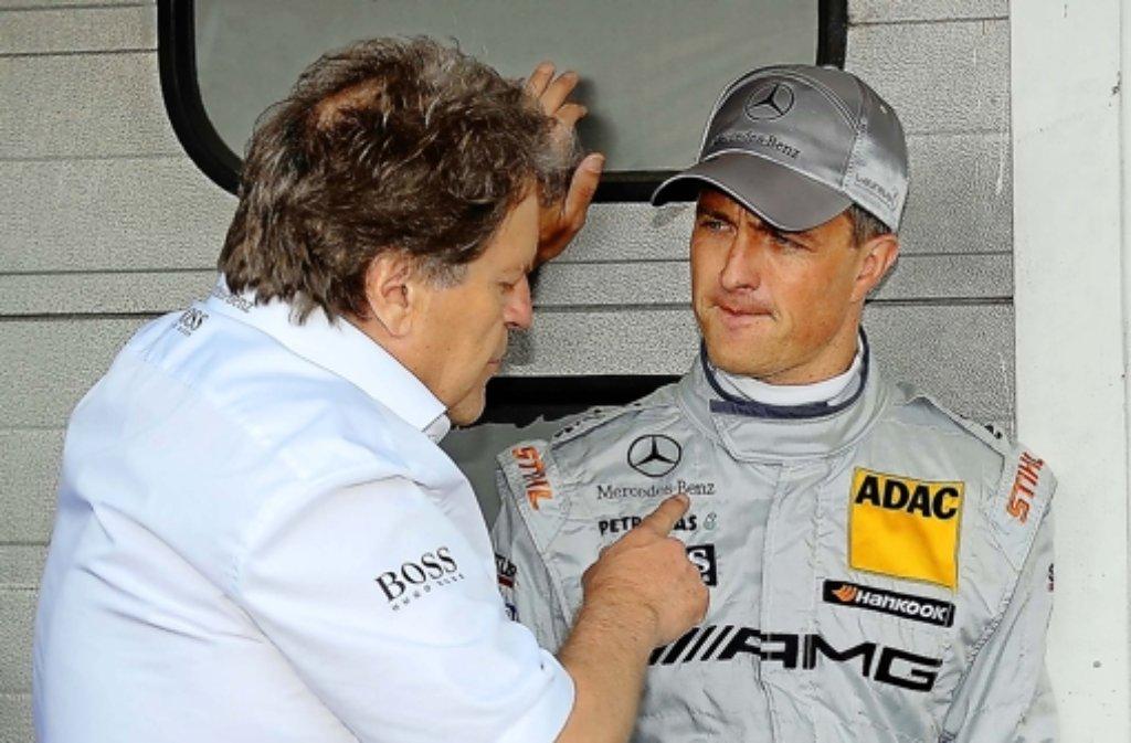 Norbert Haug (links) gibt Ralf Schumacher Tipps. Wie lange noch? Foto: dapd