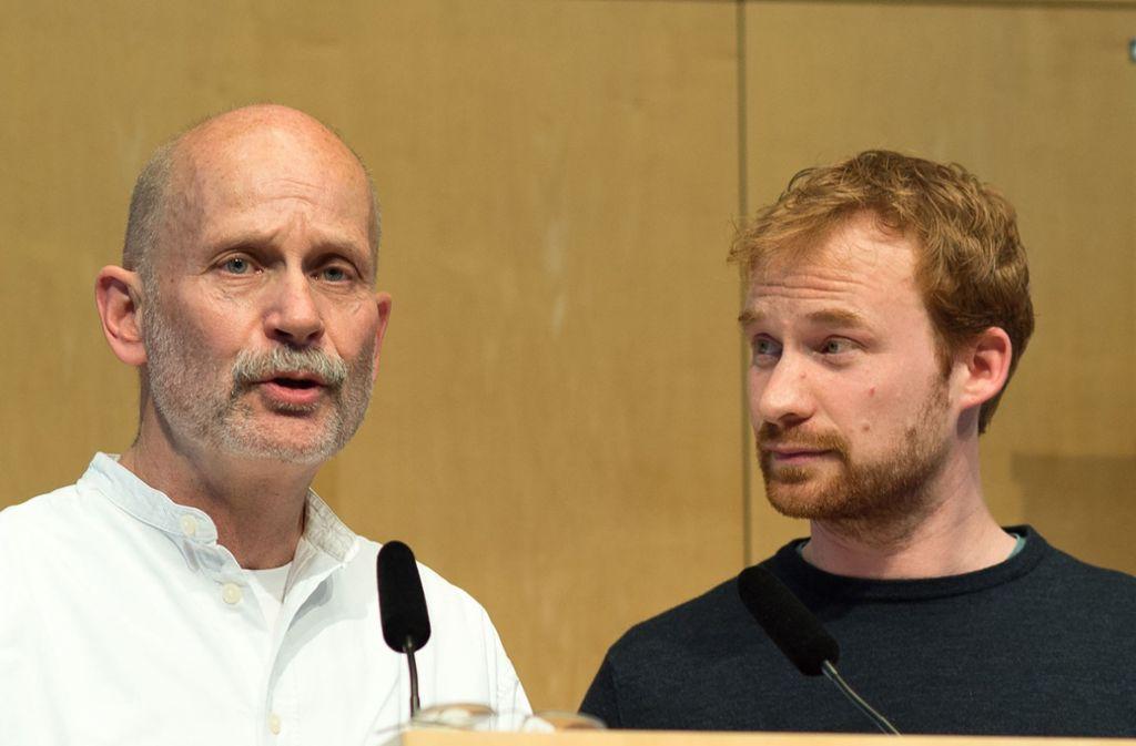 Die Fraktionschefs Thomas Adler und Hannes Rockenbauch kritisieren, OB Kuhns Klimakampagne sei  kurzlebig. Foto: Lichtgut/Leif Piechowski