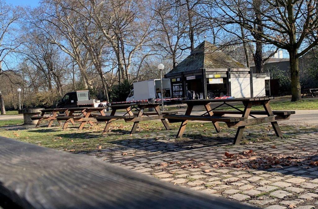 Der marode Kiosk im Schlossgarten in Stuttgart wird saniert und bekommt einen neuen Pächter. Foto: red/Breithut