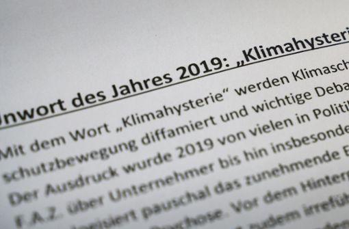 """""""Klimahysterie""""erhält den Zuschlag"""