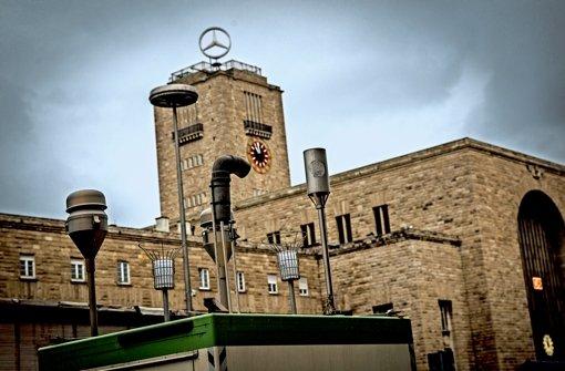 Auch am Arnulf-Klett-Platz werden die Feinstaubwerte gemessen. Foto: Lichtgut/Leif Piechowski