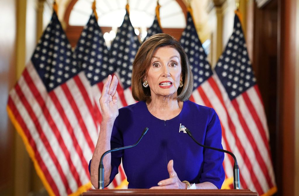 Nancy Pelosi ist Vorsitzende der Kongresskammer. Foto: AFP/MANDEL NGAN