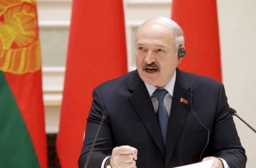 Ist seit 1994 an der Macht: Alexander Lukaschenko. Foto: EPA