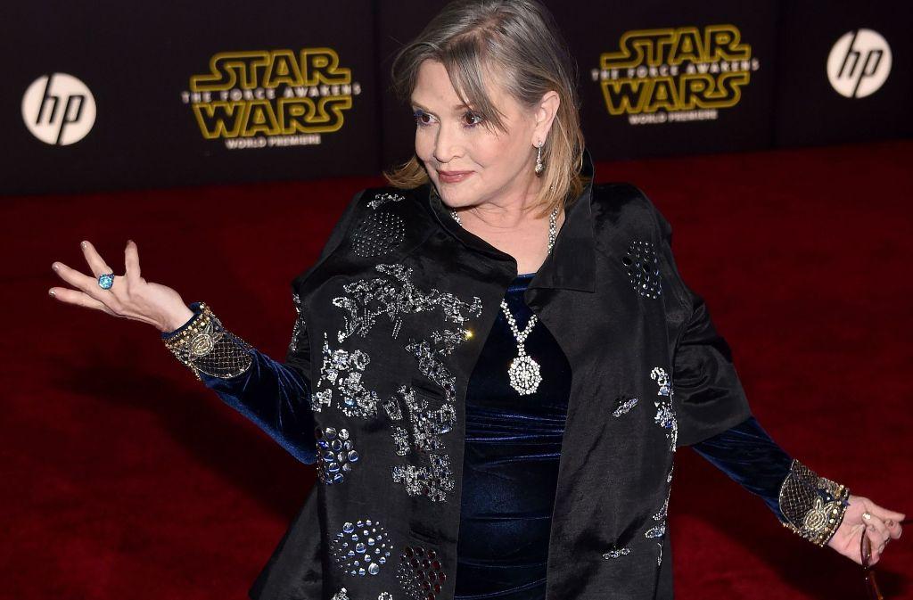 Schauspielerin Carrie Fisher wurde nur 60 Jahre alt. Foto: AFP