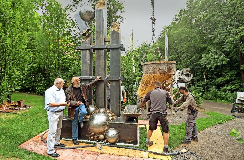 Die Skulptur wird am Samstag enthüllt. Foto: factum/Bach