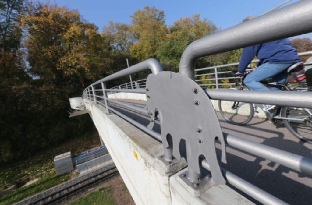 Der Elefantensteg wird für den Rosensteintunnel Foto: chim Zweygarth