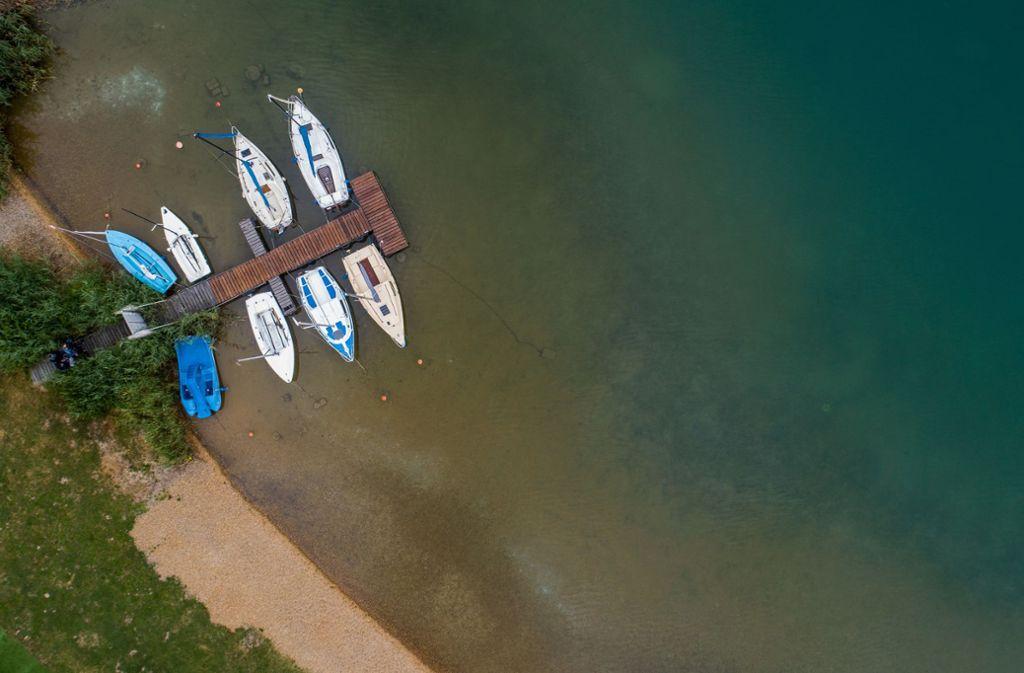 Idylle pur: Der Singliser See im Norden Hessens. Foto: dpa