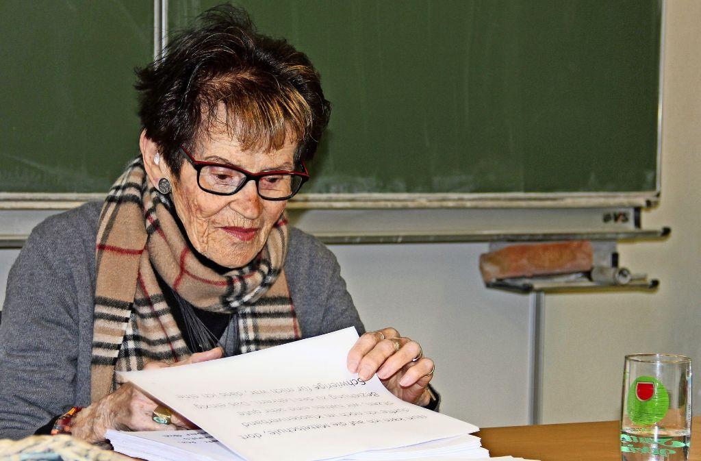 Rachel Dror gelang es, dem Holocaust zu entkommen. Foto: Bernd Zeyer