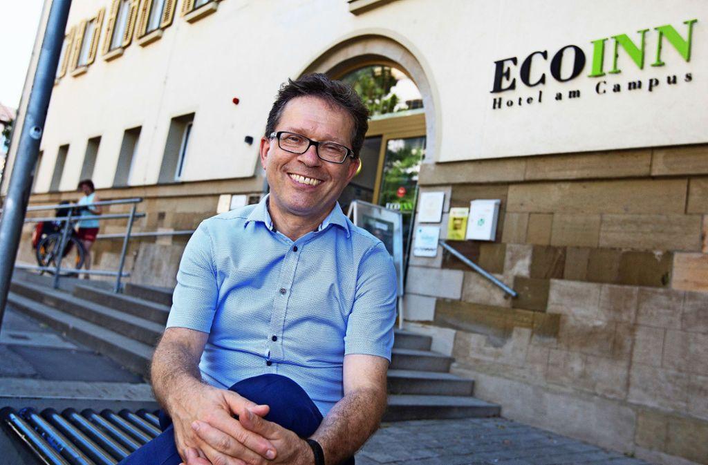 Seit 2012 leitet Thomas Puchan (58) das Ecoinn am Hochschul-Campus. Foto: Ines Rudel