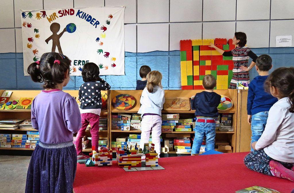 In   der ehemaligen Neuapostolischen Kirche haben die 20 Kinder viel Platz. Foto: Julia Bosch