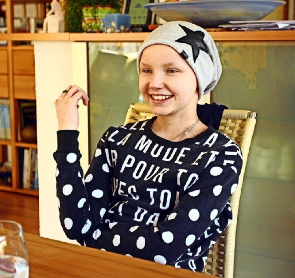 Marleen Küchler kämpft tapfer gegen den Blutkrebs. Foto: Andreas Gorr
