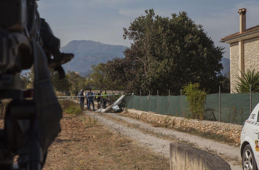 Nach dem Flugunglück am  Sonntag auf Mallorca gibt es keine  Hinweise auf ein technisches Versagen. Foto: dpa