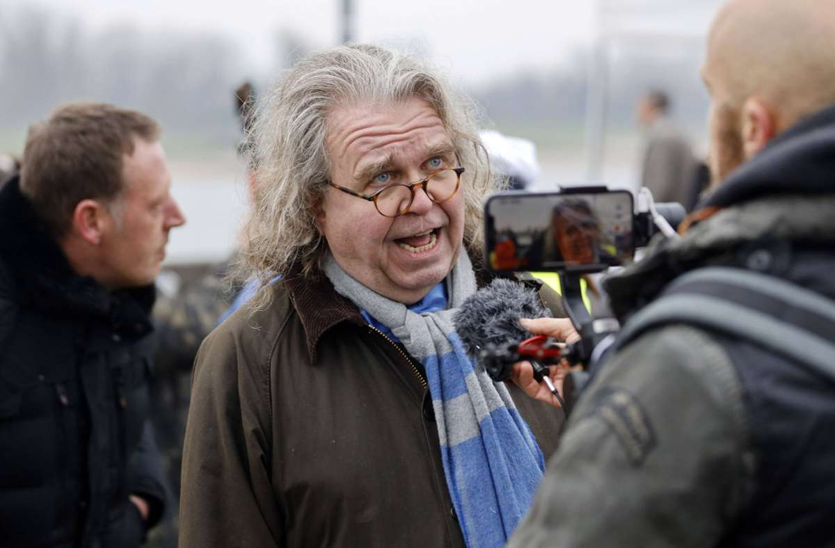 Heinrich Fiechtner Ende 2020 bei einer Demonstration der sogenannten Querdenker. Foto: imago/Future Image/Christoph Hardt