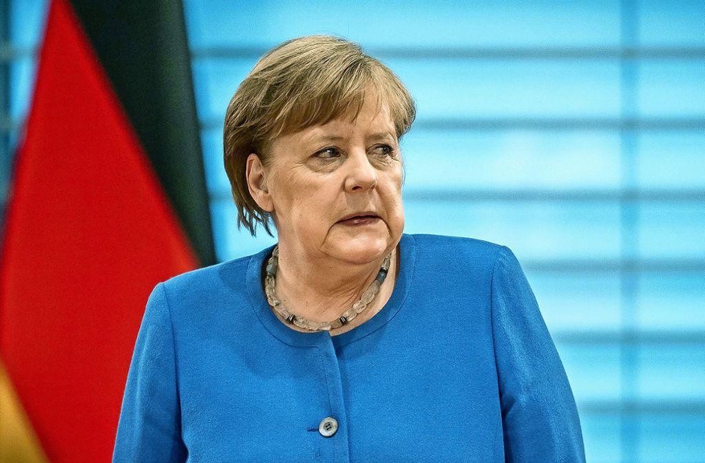 Eindringlich, engagiert, emotional – Angela Merkel appelliert an die deutsche Nation. Foto: dpa/Michael Kappeler
