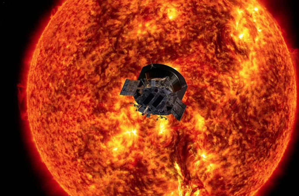 Die Nasa-Raumsonde Parker Solar Probe ist der Sonne so nah gekommen wie noch kein Raumschiff zuvor. Foto: Johns Hopkins APL/ Nasa Goddard Space Flight Center/AFP