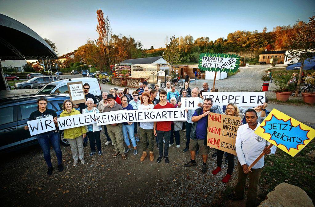 Mehrere Anwohner wollen, dass der  Biergartenbetrieb eingestellt wird. Foto: Gottfried Stoppel