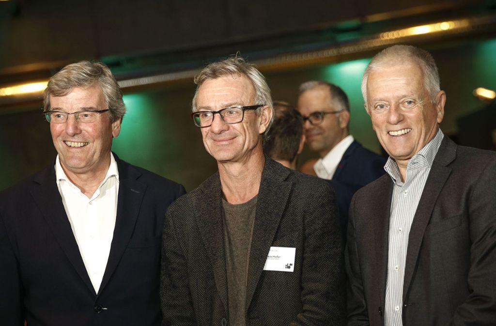 Sie wollen die Bauausstellung voranbringen: Regionalpräsident Thomas Bopp, IBA-Intendant Andreas Hofer, Stuttgarts OB Fritz Kuhn (von links). Foto: Lichtgut/Leif Piechowski