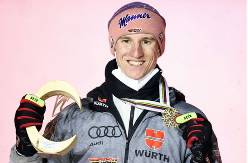 Karl Geiger komplettiert  den Medaillensatz