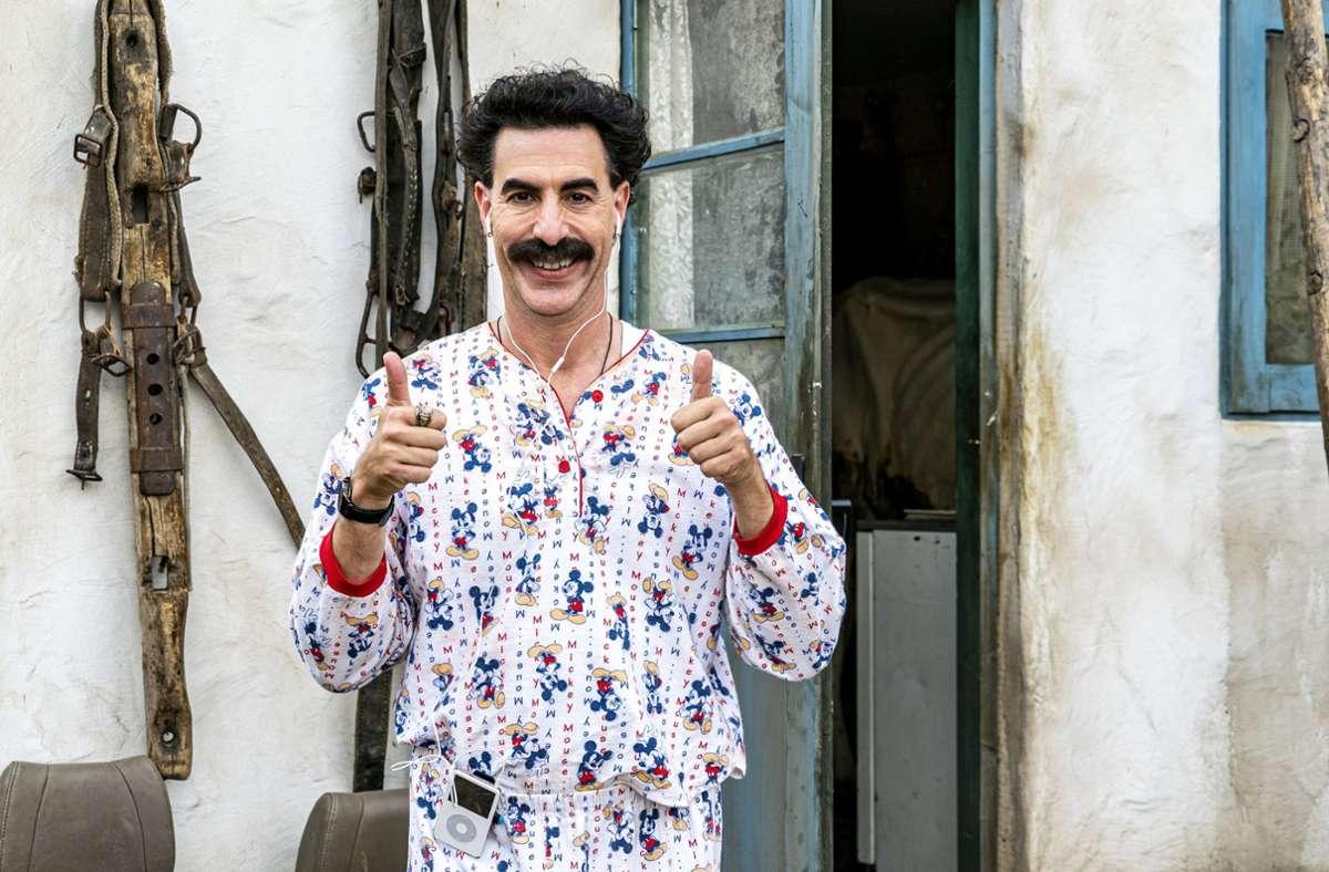 Borat (Sacha Baron Cohen) ist zuversichtlich: Diesmal kommt er in den USA bestimmt besser zurecht. Foto: AP/Netflix
